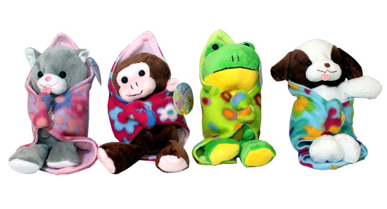Plush Blanket Babies - Gifts For Boys & Girls - Holiday Gifts Mart