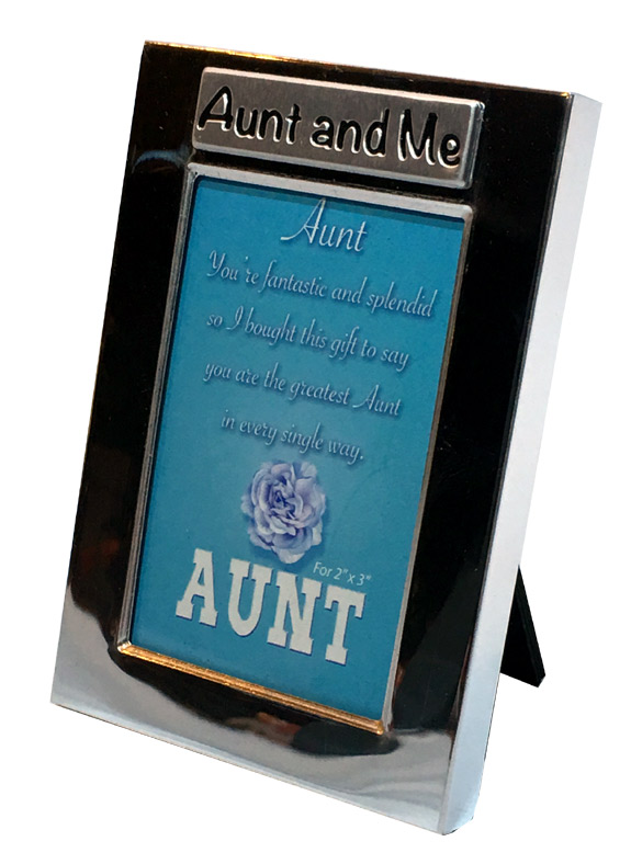 Aunt and Me Silver Photo Frame - Aunt Gifts - Holiday Gifts Mart