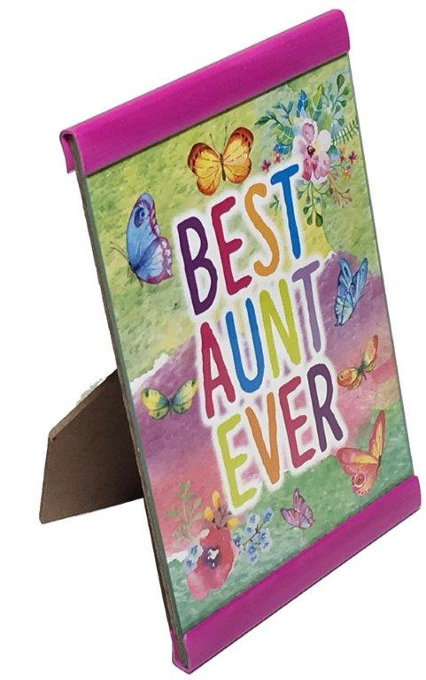 Best Aunt Ever Plaque - Aunt Gifts - Holiday Gifts Mart