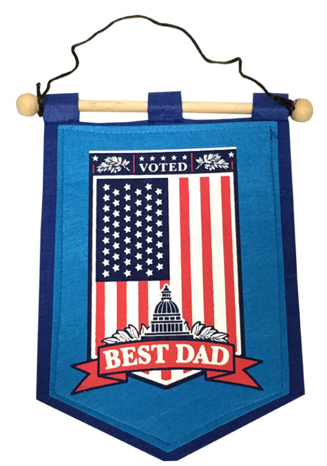 Dad Banner on Wooden Rod - Dad Gifts - Holiday Gifts Mart