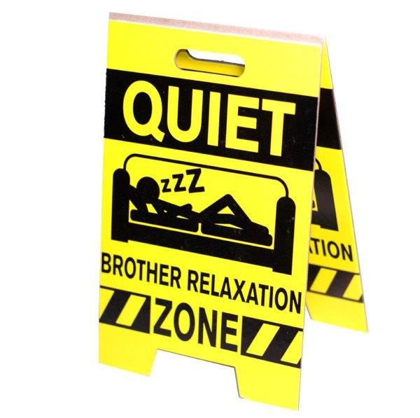 Brother Relaxation Zone Sign - Brother Gifts - Holiday Gifts Mart