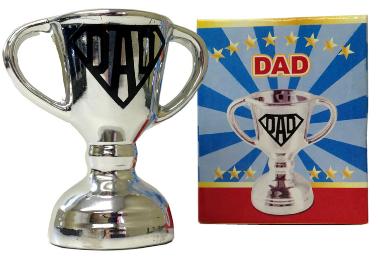 Dad Chrome Silver Cup - Dad Gifts - Holiday Gifts Mart