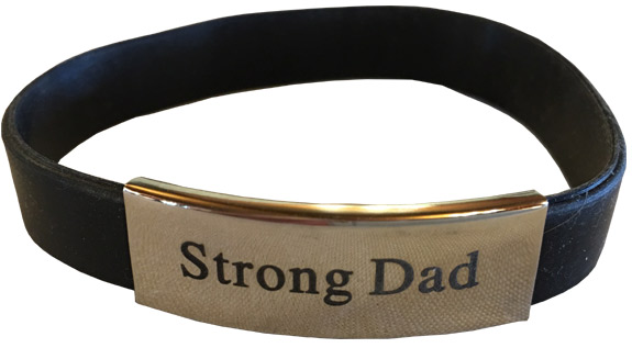 Strong Dad Fit Band Bracelet - Dad Gifts - Holiday Gifts Mart