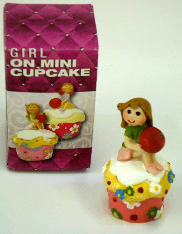 Girl On Mini Cupcake Figure - Gifts For Women - Holiday Gifts Mart