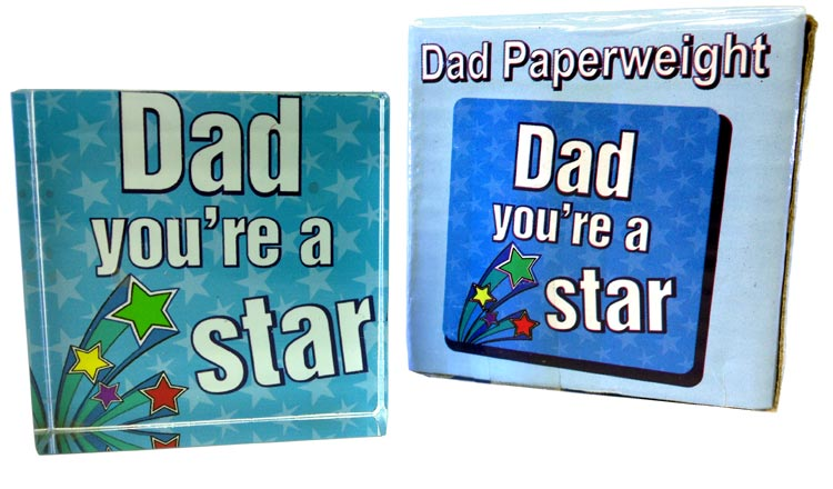 Dad Star Paperweight - Dad Gifts - Holiday Gifts Mart
