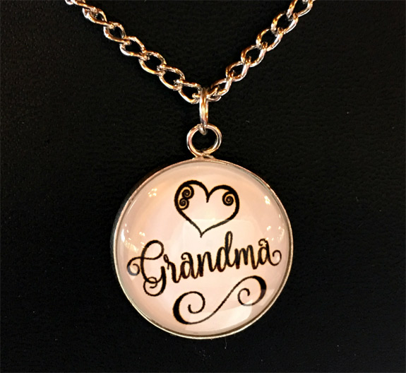 Grandma Necklace on Card - Grandma Gifts - Holiday Gifts Mart