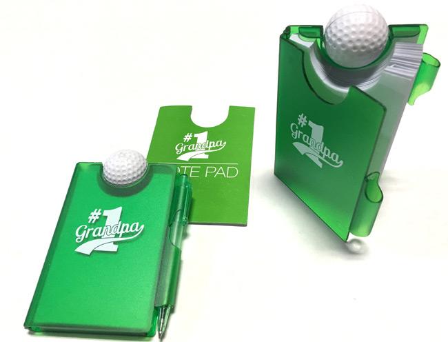 #1 Grandpa Golf Ball Notepad - Grandpa Gifts - Holiday Gifts Mart