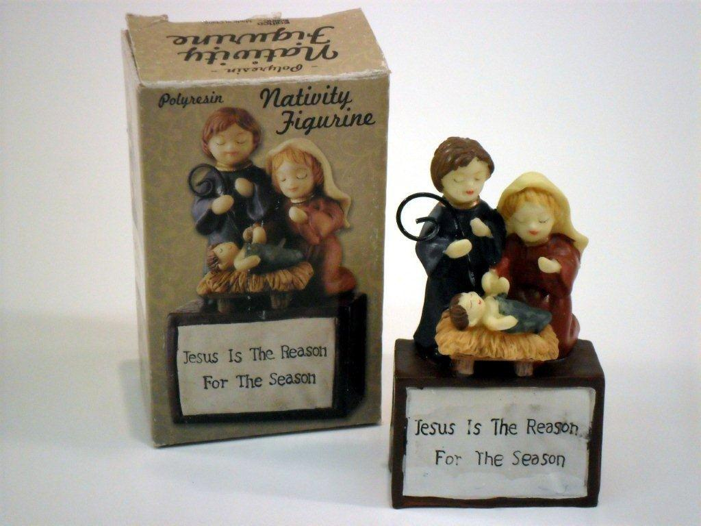 Jesus Is The Reason Nativity Figurine - Christian Gifts - Holiday Gifts Mart