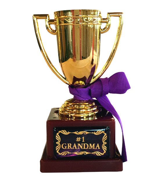 Number 1 Grandma Trophy - Grandma Gifts - Holiday Gifts Mart