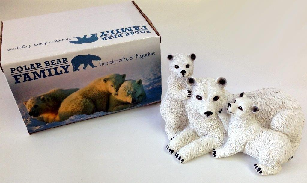 Polar Bear Family Figurine - Gifts For Women - Holiday Gifts Mart