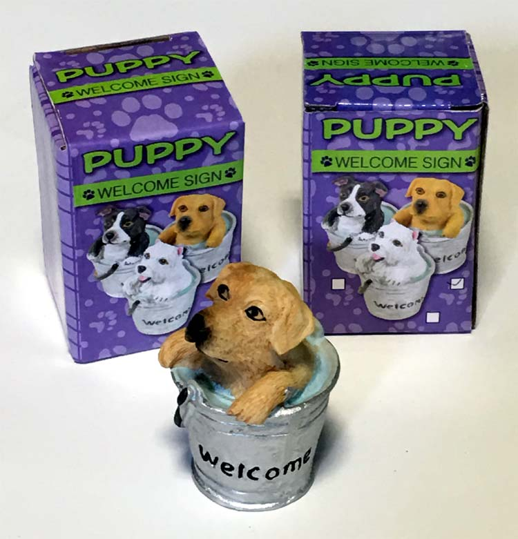 Puppy Welcome Figurine - Gifts For Everyone Else - Holiday Gifts Mart