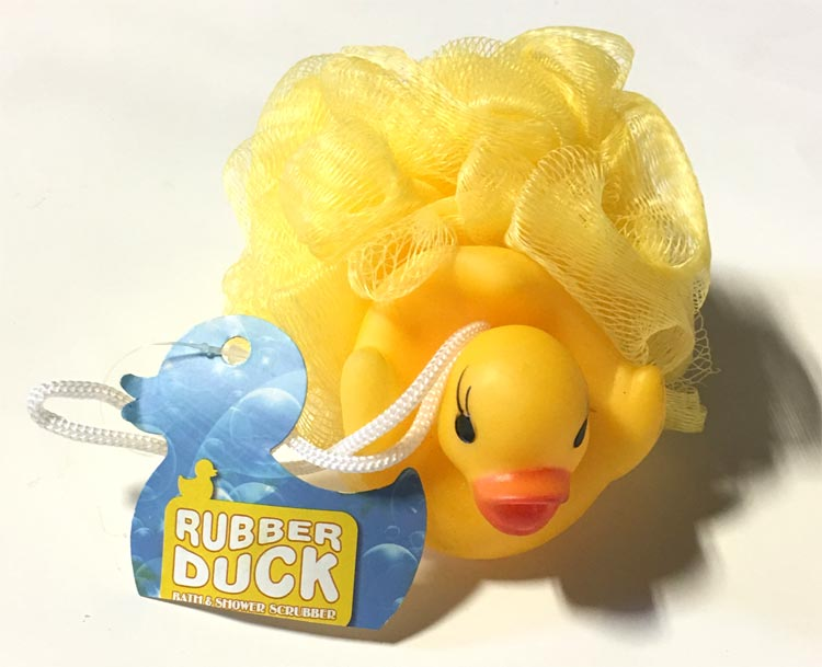 Rubber Ducky Bath Scrubber Toy - Baby Gifts - Holiday Gifts Mart
