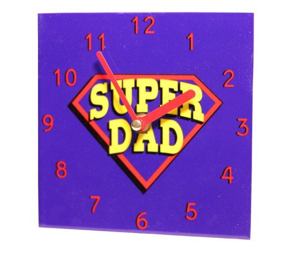 Super Dad Wall Clock - Dad Gifts - Holiday Gifts Mart