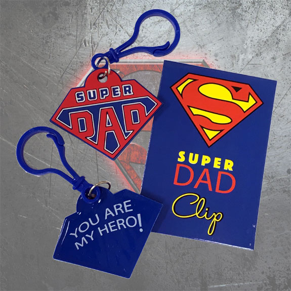 Super Dad Clip - Dad Gifts - Holiday Gifts Mart