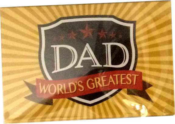 Worlds Greatest Dad Magnet - Dad Gifts - Holiday Gifts Mart