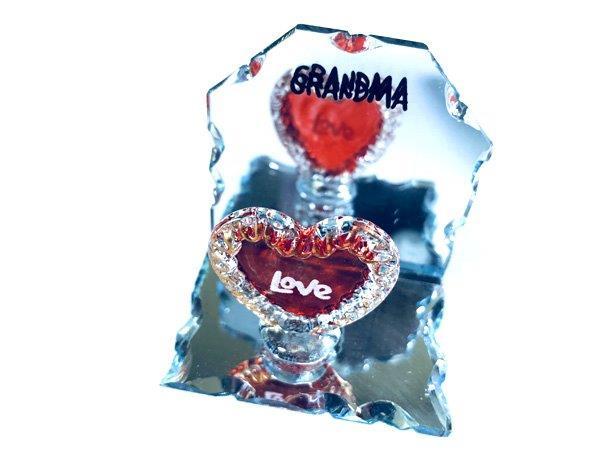 Grandma Heart Mirror Plaque - Grandma Gifts - Holiday Gifts Mart