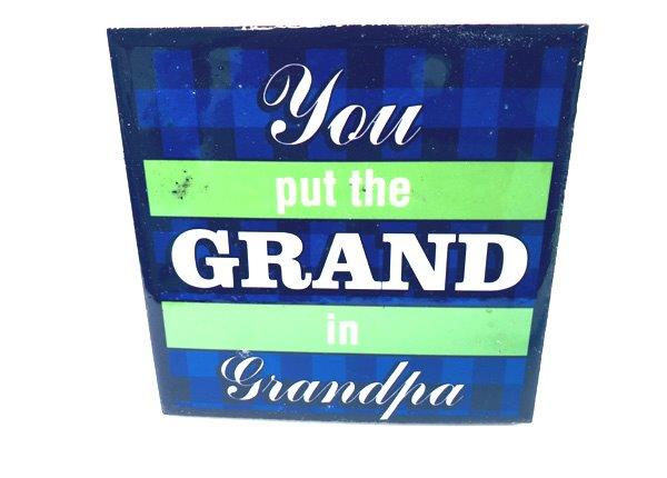 Grandpa Plaque - Grandpa Gifts - Holiday Gifts Mart