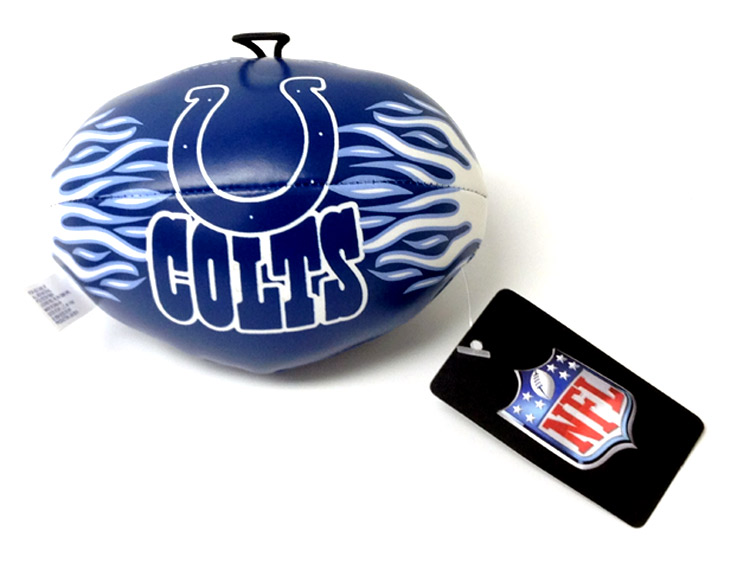 4.5 Inch NFL Indianapolis Colts Vinyl Football - Sports Team Logo Gifts - Holiday Gifts Mart