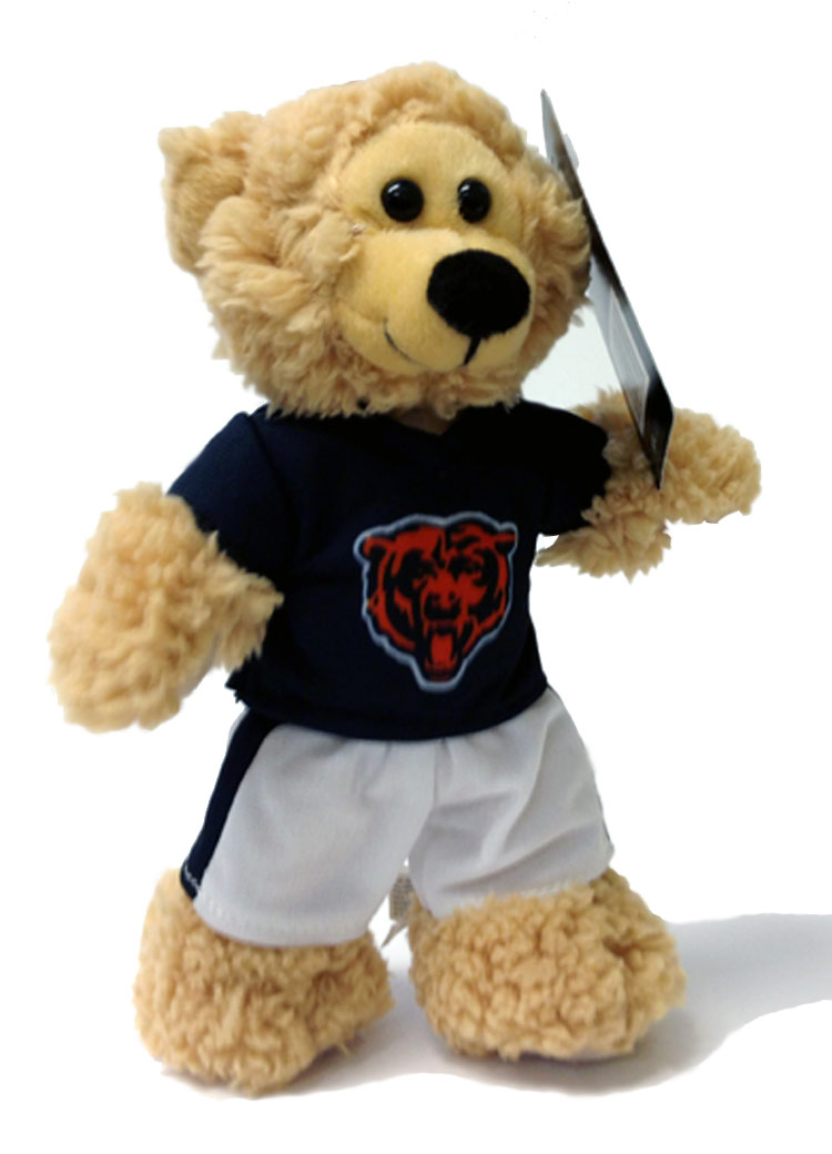 Chicago Bears Plush NFL Quarterback Bear - Sports Team Logo Gifts - Holiday Gifts Mart