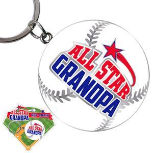 All Star Grandpa Keychain - Grandpa Gifts - Holiday Gifts Mart
