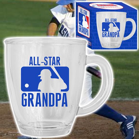 All-Star Grandpa Glass Mug