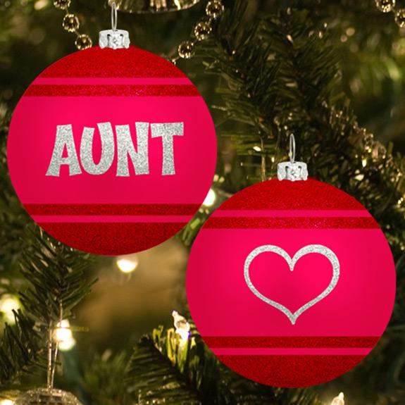 Aunt Glitter Ornament