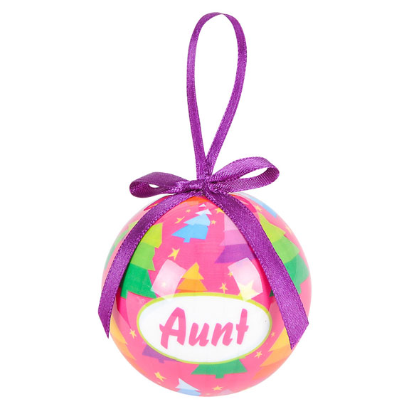 Aunt Holiday Ornament - Aunt Gifts - Holiday Gifts Mart