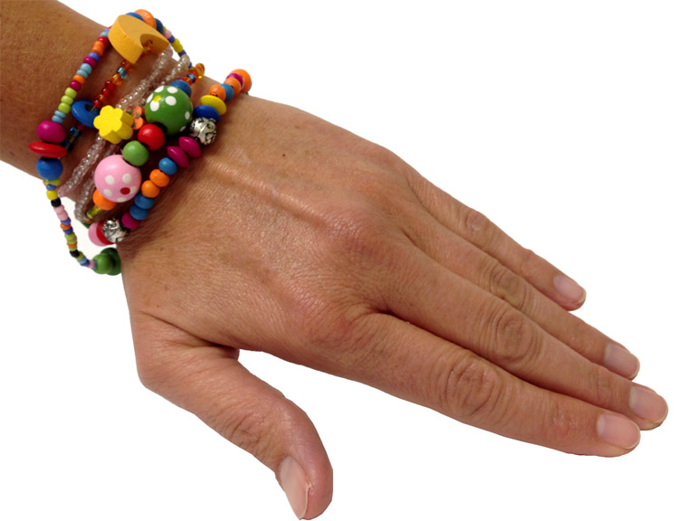 Set of 5 - Beadtastic Bead Bracelet Multi Charm - Jewelry Gifts - Holiday Gifts Mart