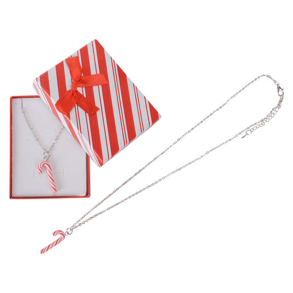 Candy Cane Necklace - Jewelry Gifts - Holiday Gifts Mart