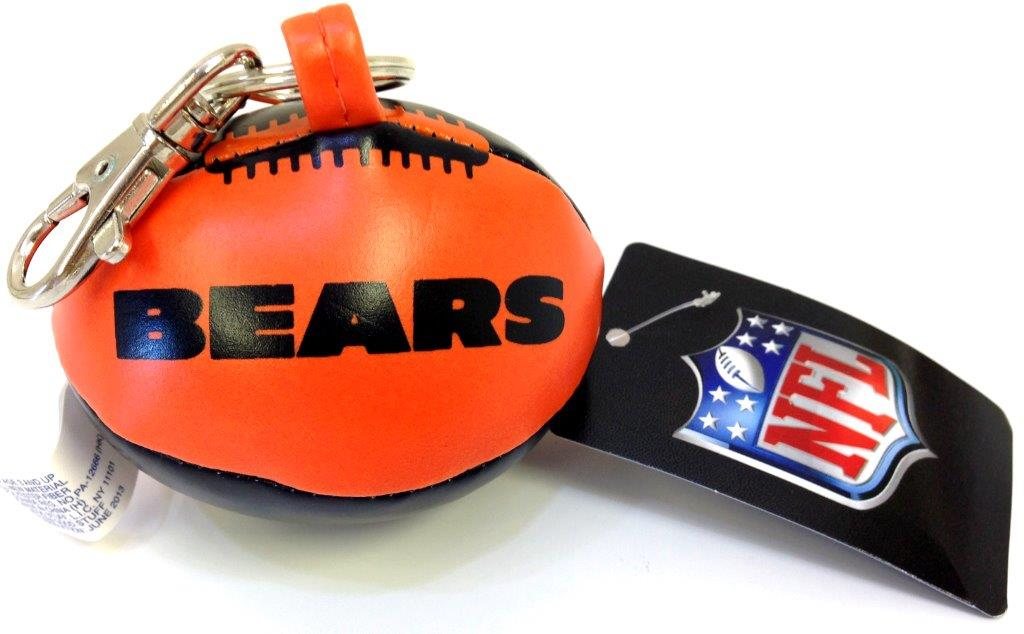 Vinyl Key Chain - Chicago Bears - Sports Team Logo Gifts - Holiday Gifts Mart