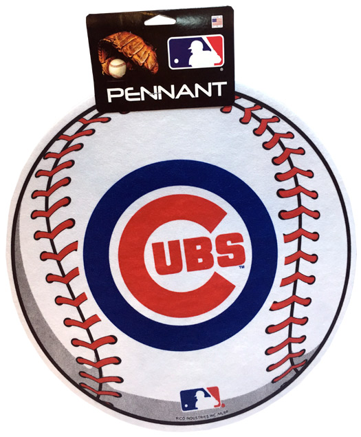 Chicago Cubs MLB Ball Pennant - Sports Team Logo Gifts - Holiday Gifts Mart