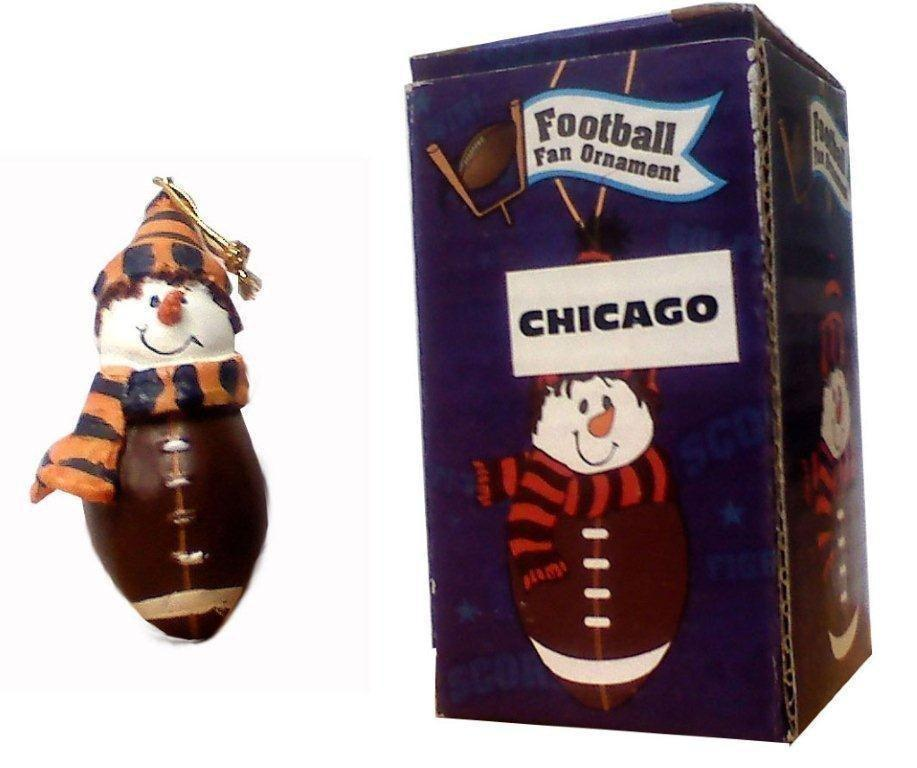 Chicago Football Fan Ornament - Sports Team Logo Gifts - Holiday Gifts Mart