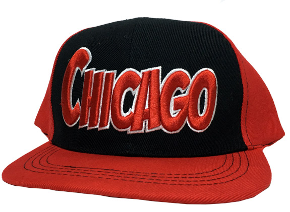 Chicago City - Flat Brim Hat - Cap - Sports Team Logo Gifts - Holiday Gifts Mart