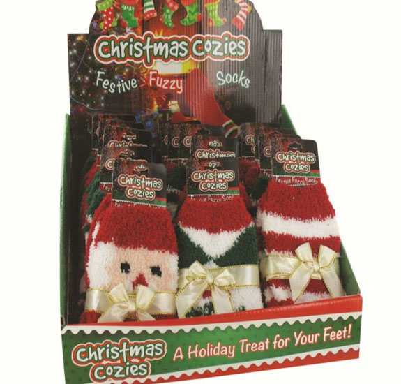 Cozy Fuzzy Christmas Socks - Christmas - Holiday Gifts - Holiday Gifts Mart