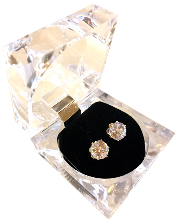 CZ Stud Earrings - Crystal Box - Jewelry Gifts - Holiday Gifts Mart