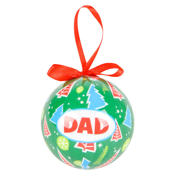 Dad Christmas Bow Ornament - Dad Gifts - Holiday Gifts Mart