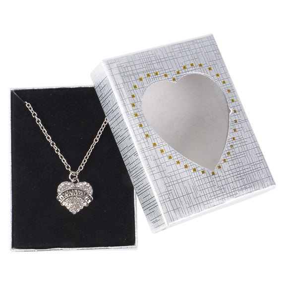 Grandma Heart  Necklace in Gift Box - Grandma Gifts - Holiday Gifts Mart