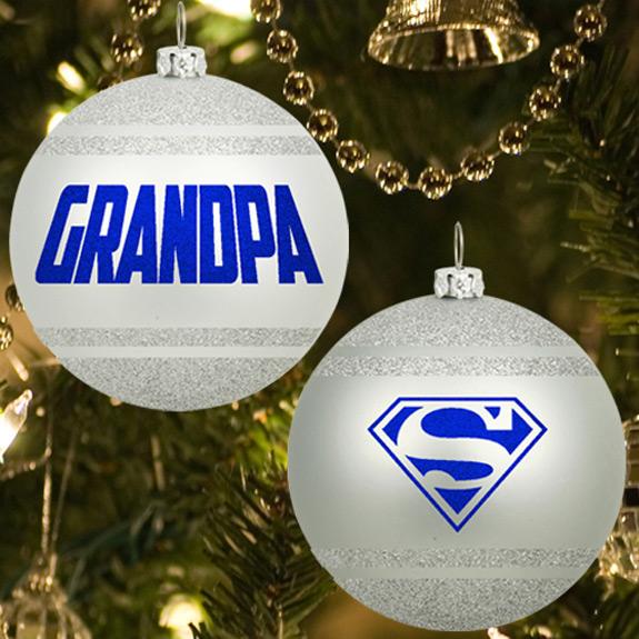 Grandpa Glitter Ornament