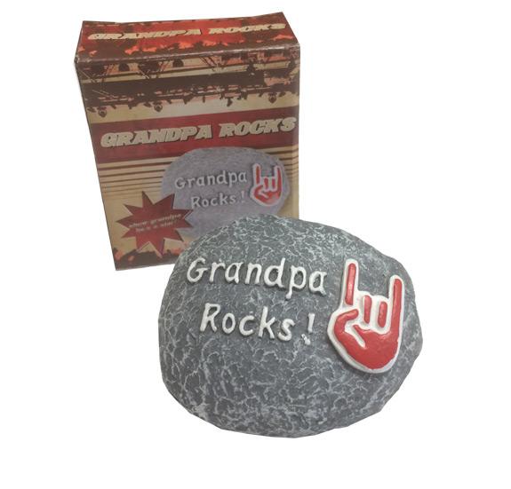 Grandpa Rocks! Paperweight - Grandpa Gifts - Holiday Gifts Mart