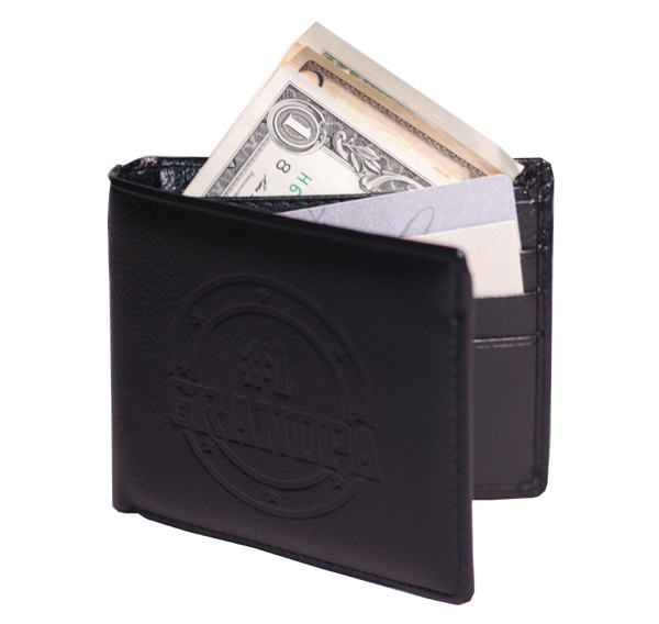 Grandpa Leather Wallet - Grandpa Gifts - Holiday Gifts Mart