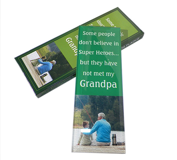 Grandpa My Hero Mirror Plaque - Grandpa Gifts - Holiday Gifts Mart