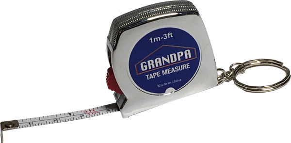 Grandpa Tape Measure Keychain - Grandpa Gifts - Holiday Gifts Mart