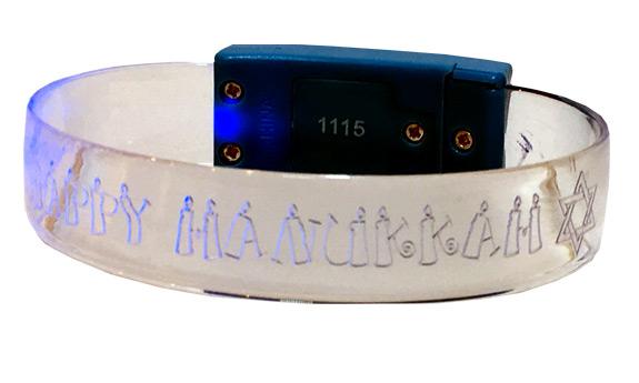 Happy Hanukkah Light Up Bracelet - Jewish - Hanukkah Gifts - Holiday Gifts Mart