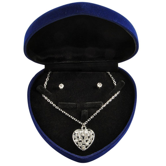 Heart Pendant/Stud Set - Jewelry Gifts - Holiday Gifts Mart