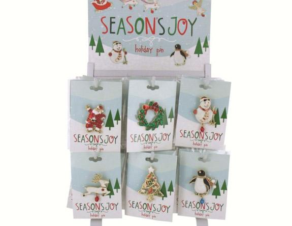 Holiday Pin Asst Styles - Christmas - Holiday Gifts - Holiday Gifts Mart