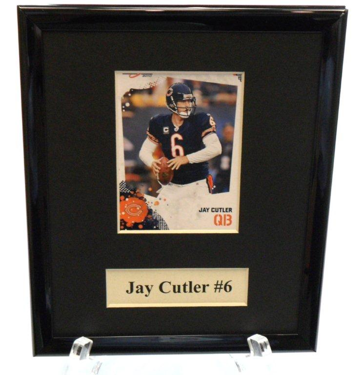 Jay Cutler Sports Star Plaque - Sports Team Logo Gifts - Holiday Gifts Mart