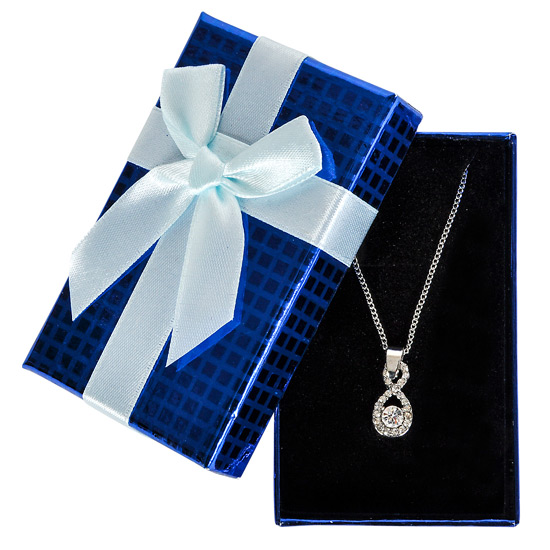 Jewel Necklace in Blue Gift Box - Jewelry Gifts - Holiday Gifts Mart