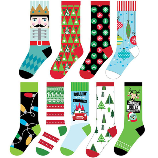 Asst Christmas Socks - Christmas - Holiday Gifts - Holiday Gifts Mart