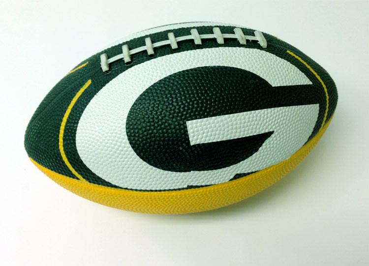 Green Bay Packers Logo Football - Sports Team Logo Gifts - Holiday Gifts Mart