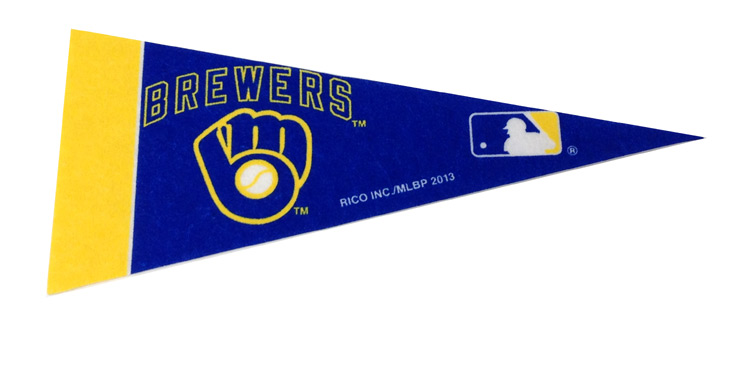 Milwaukee Brewers Mini Pennant - Sports Team Logo Gifts - Holiday Gifts Mart